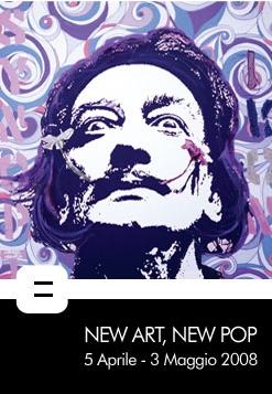 "locandina mostra ""New Art, New Pop"""