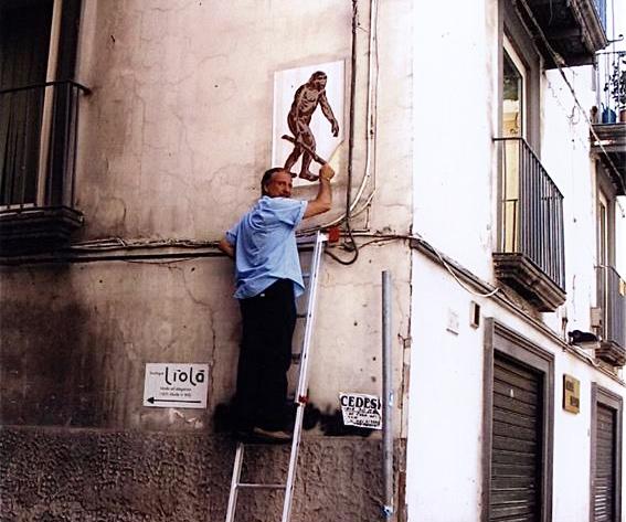 Il Cacciatore di Graffiti all'opera