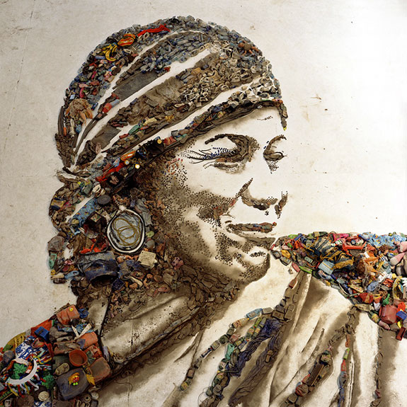 "scatti dal ""Waste Land"" di Vik Muniz"