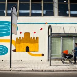 Agostino Iacurci - Dettaglio muro di sinistra - Via Marina (Lungomare di Serapo)