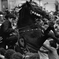 Spain. Ciudadela. 1980. The chaos of St.Jean.