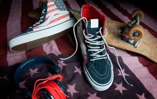 Sk8 Hi American Flag