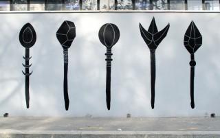"Wallpainting per ""Garten"", Artkitchen, MIlano"