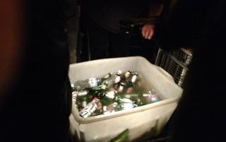 la pulitissima acqua delle birre dei bagarini