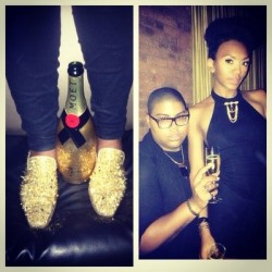 The johnson children giving a night in black and gold @elisajohnson @louboutin world shoes #limitededition #crystal #dandy #blackandgold by ej_antoinette #goldshoes