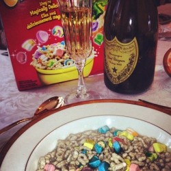 The breakfast of champions #luckycharms and #domp by lkunash