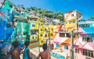 Santa Marta Favela Painting project