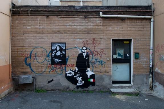 Blek le Rat a Roma per Wunderkammern - foto di Blind Eye Factory