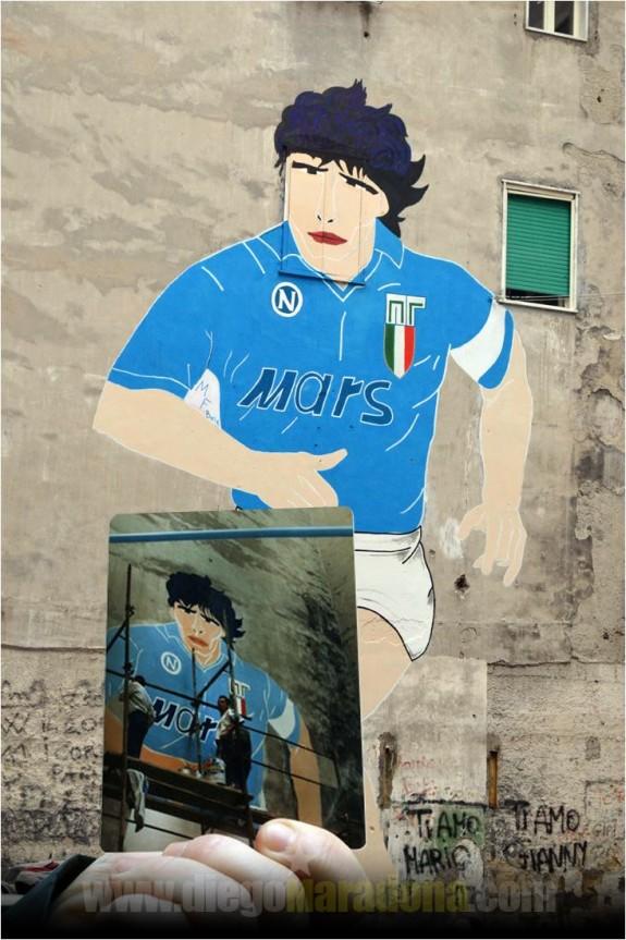 La foto postata da Maradona su Facebook con i ringraziamenti per il restauro