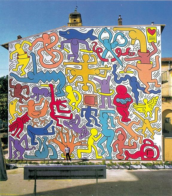 Once upon a wall tuttomondo by keith haring ziguline for Immagini di murales e graffiti