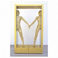 bonzanos-art-group-interazioni-di-coppia-2016-scultura-in-filo-su-acciaio-a-specchio-cm-58x335x15-copia