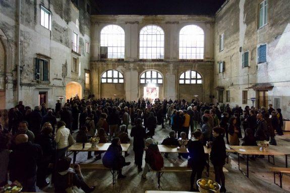 Cortile del Palazzo Cassano Ayerbo D'Aragona, Foto Amedeo Benestante