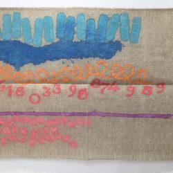 Giorgio Griffa, Sezione Aurea n°989, 2010, acrilico su tela, cm. 100x135 (Copia)