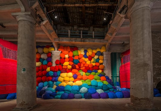 "Sheila Hicks, ""Escalade Beyond Chromatic Lands"", Viva Arte Viva, Arsenale"