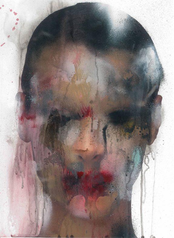 Marco Rea, Untitled – pittura spray su immagine fotografica