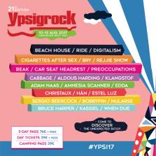 Ypsigrock Festival 2017_Full Lineup