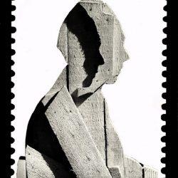 - 997, Francobollo, collage di foto con ritratto Ceroli su fondo fotografico, 1977, cm.40x26._2