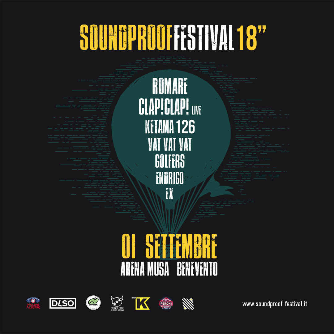 Soundproof Festival 2018 all'Arena Musa di Benevento