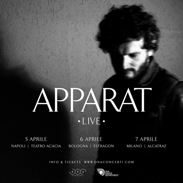 APPARAT, aka Sascha Ring, in tour in Italia