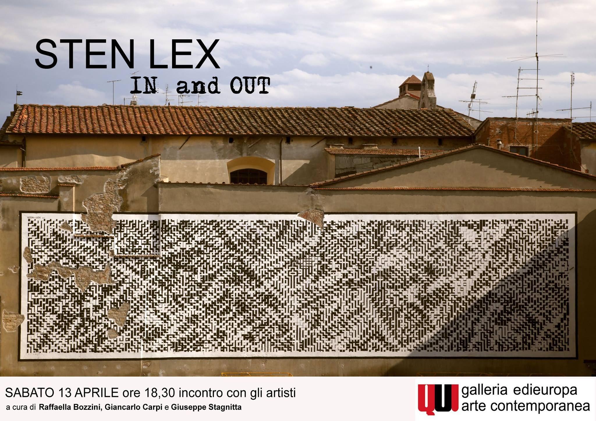 "Incontro ""IN AND OUT"" con STEN+LEX | ABSTRACTA – Focus sulla Street Art"