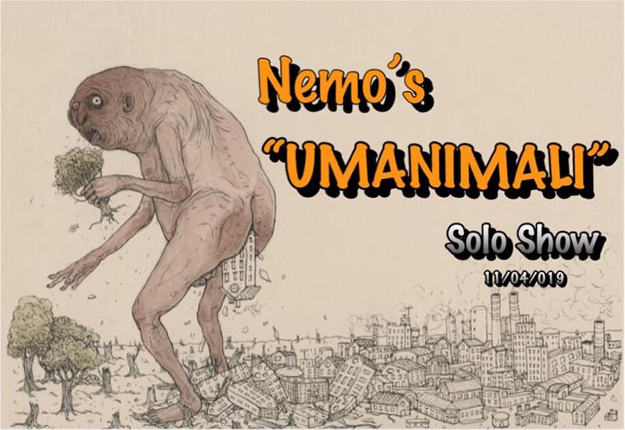 Umanimali | Nemo's Solo Show alla Square23 Gallery